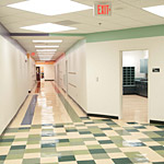 Commercial vinyl tile
