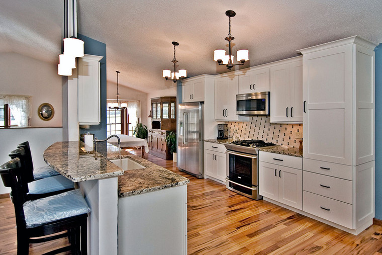 Barnhart, MO | Tigerwood Hardwood floor and backslash*