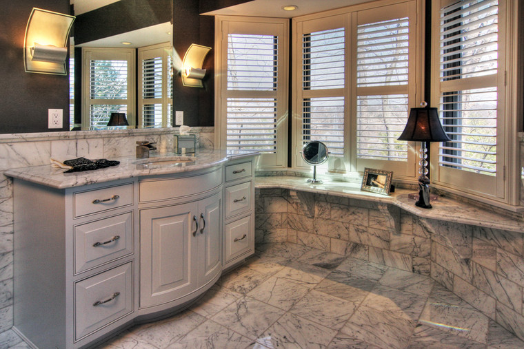 Valley Park, MO | Marble Master Bathroom*