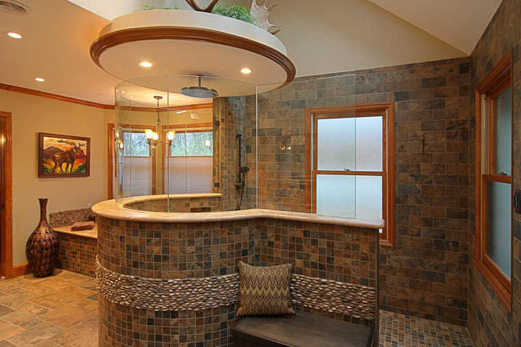 Collinsville, IL |  Florida Tile porcelain tile and River Rock *