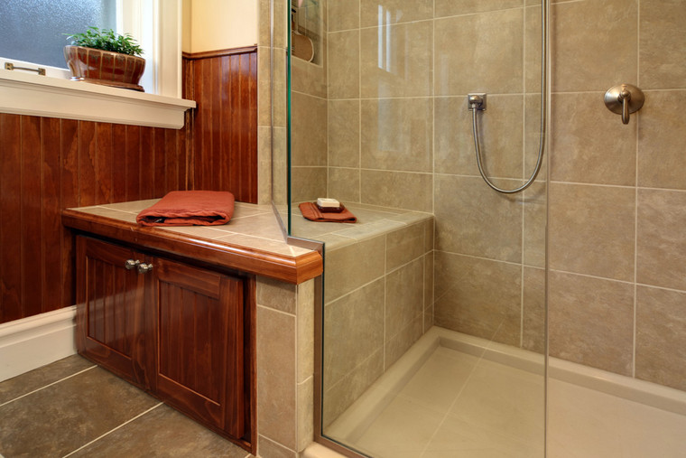 Maplewood, MO | Porcelain Tile For Shower With Bench Seat*