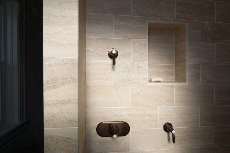 St. Louis, MO | Stone tile with shower niche*