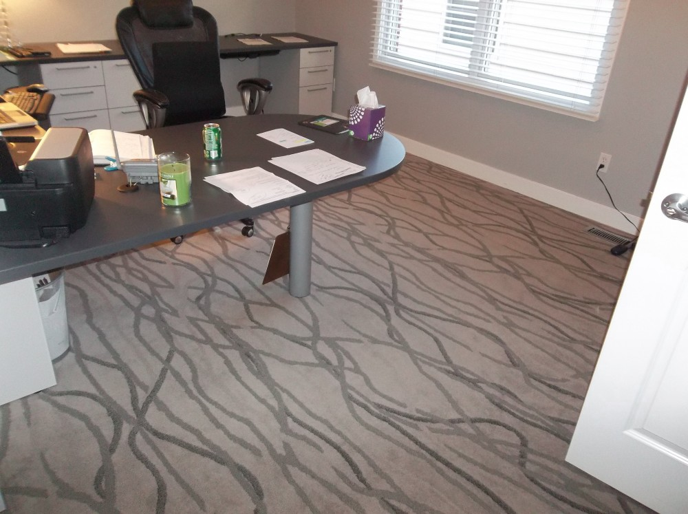 Clayton, MO | Shaw Contract Commercial Carpet used in a home office