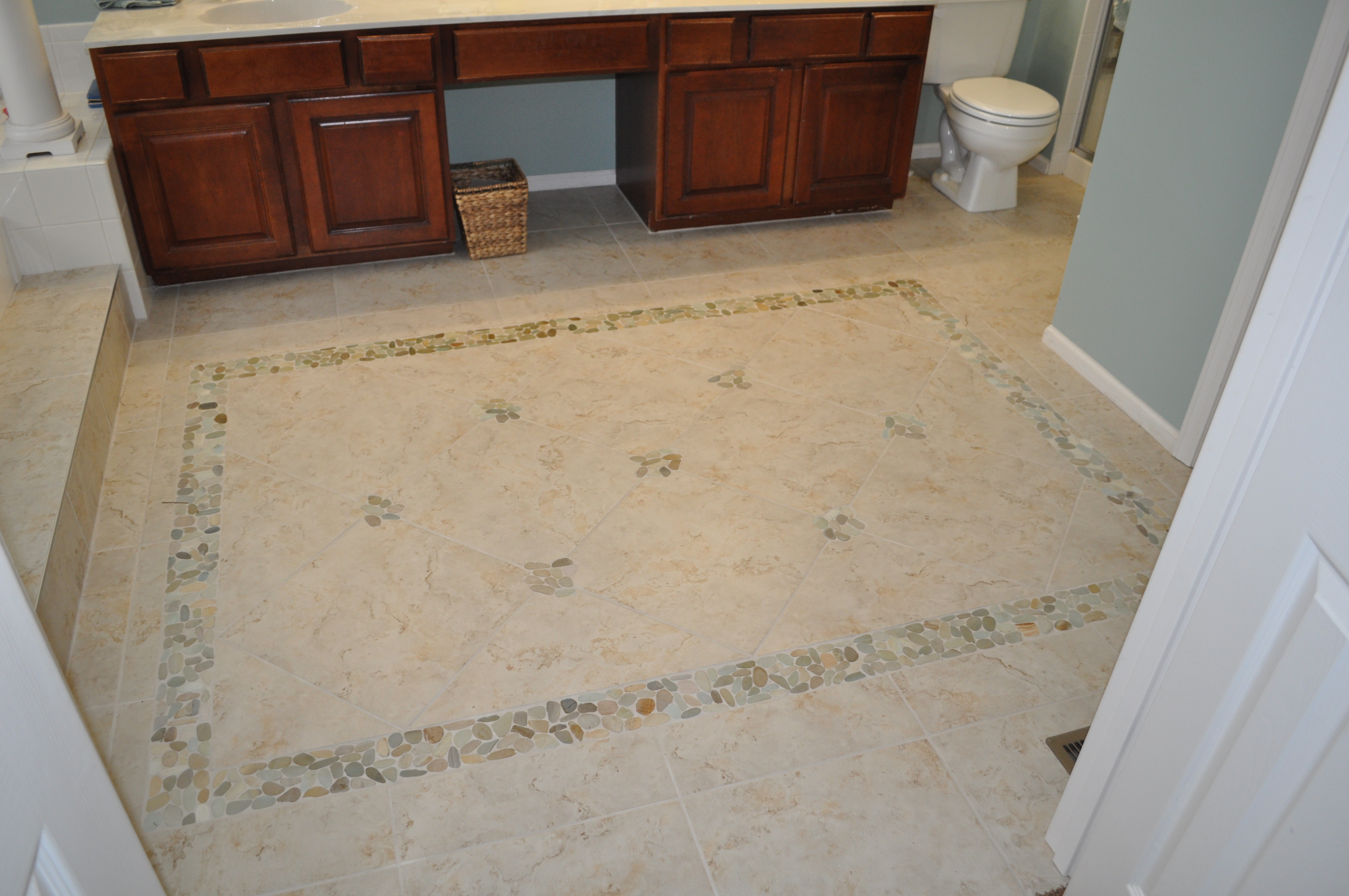 Chesterfield, MO ~ Area Rug in Master Bathroom floor